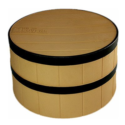 Straw Whisky Barrel no planter
